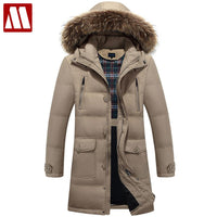2018 New down parka men winter jacket men's high quality hooded down coat thick long coat for Male fur collar plus size 3XL 4XL