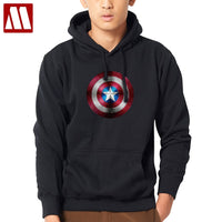 Big size The Avengers Iron Man Hulk Captain America Hoodies 3D Logo Winter Fleece thick Mens Sweatshirts Fashion Male Hoody Coat
