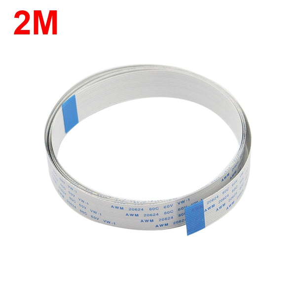 Raspberry Pi Camera 2M Ribbon FFC Line 15pin 0.5mm Pitch Flat Wire Cable for Raspberry Pi 3 Model B+ Camera Module