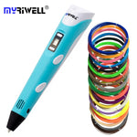 Myriwell Original RP-100B 3D printing pen 1.75mm ABS Smart 3d drawing pens with Filament LED Display for the Kids gifts