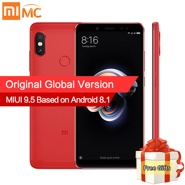 "Global Version Xiaomi Redmi Note 5 4GB 64GB Android 8.1 Mobile Phone Snapdragon 636 Octa Core 5.99"" 18:9 Full Screen 4000mAh CE"