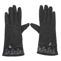 Touch Screen Mittens Women Female Ladies Girls Sheep Wool Winter Lace Gloves Winter Warm Outdoor Gloves Fashion Novelty Guantes