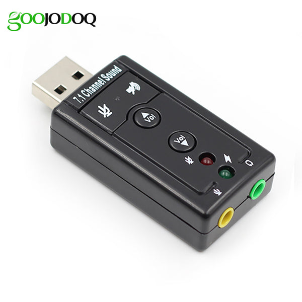 7.1 External USB Sound Card USB to Jack 3.5mm Headphone Audio Adapter Micphone Sound Card For Mac Win Compter Android Linux