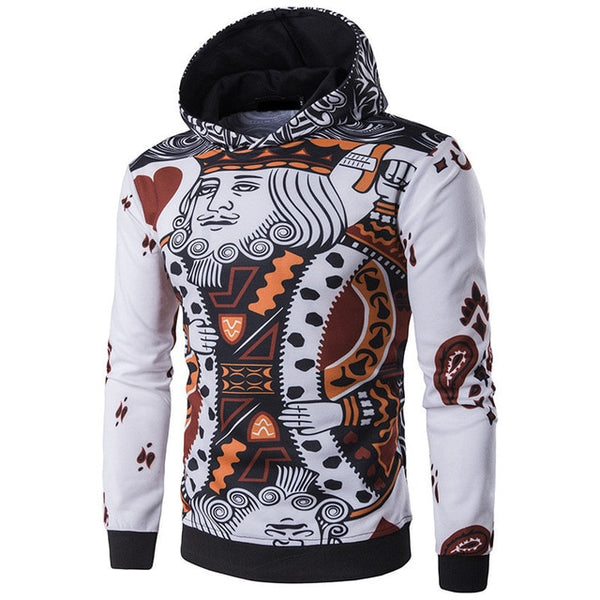 Autumn HipHop Men Hoodies Sweatshirts Coat Joggers Workouts Sportswears Hoody Tracksuit Pullover Poker Masculina Winter