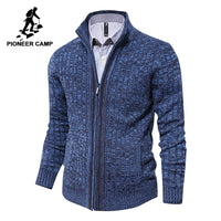 Pioneer Camp mens cardigan sweater famous brand clothing slim fit zipper male sweaters top quality cardigan for men