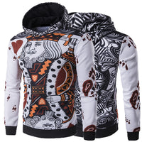 HipHop Men Hoodies Sweatshirts Coat Joggers Workouts Sportswears Hoody Tracksuit Pullover 3D Playing Cards Poker Masculina