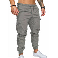 2018 Military Multi Pockets Skinny Pants Men Cargo Pants Joggers Fitness Tactical Waist Khaki Casual Trousers Plus Size 3XL