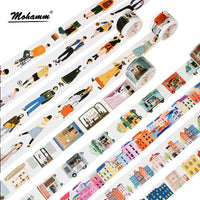 Creative Modern People City Daily Life Decorative Washi Tape Diy Scrapbooking Masking Tape School Office Supply