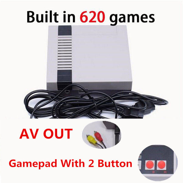 Qiateng 2018 Mini Video Game Console For Family Game Built-in 620 Classic Games Mini Retro Video Game Console For Entertainment