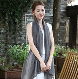 2018 Women Spring Summer Scarf Pashmina Luxury Brand Solid Linen And Cotton Fashion Female Beach Multi-purpose Shawl