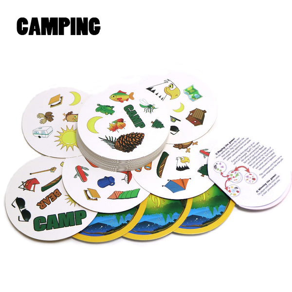 2018 spot camping find it English version kids gifts for family home party card game, board game