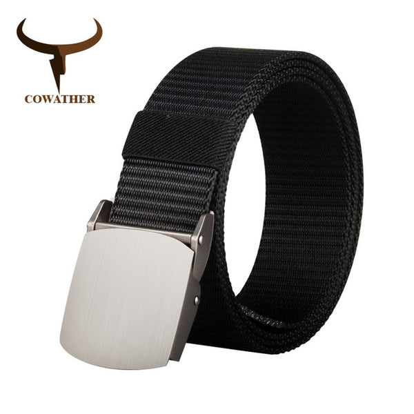 COWATHER nylon men belt military outdoor tactical belts for men male jeans strap luxury casual male waistband 110 130 150 170cm