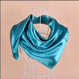 girl women mens solid plain muslim hijab Scarf Silk Scarf square Scarves Neckerchiefs gift accessory 90*90cm 5colors