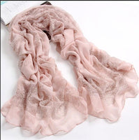 180*110cm Women Volie Vintage Style Scarf Fashion Pink&Ancient Scarves Female Cotton Cachecol Summer Shawl Hijab Wraps