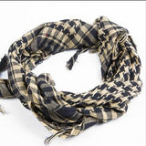Cotton Wholesale Women's Scarf Plaid Print Scarf Skinny Cotton Scarves Tactical Desert Arab Muslim Hijab Head Wraps 4Colors