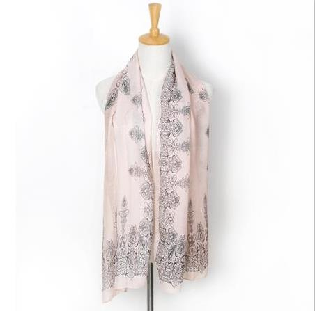 Fashion women's national wind scarf long section soft ladies chiffon scarf luxury brand bohemian style Xiao
