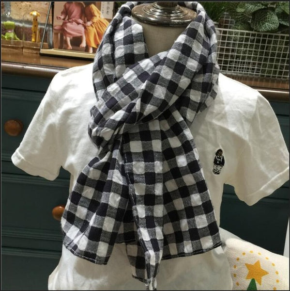 Cotton Scarf for Women Autumn scarf plaid bufandas mujer black women winter scarves shawls stoles Blanket Scarf Luxury Brand