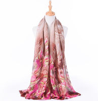 Fashion Women's Scarf Luxury Brand Turban Silky Satin Shawl Scarf Scarf Shawl 2018 NEW