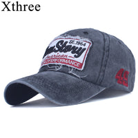 Xthree cotton men'sbaseball cap retro fitted cap snapback hat for men bone women gorras casual casquette embroidery cap