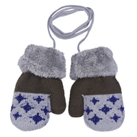 2018 New Hot 1Pair Boy Leaf Girl Keep Warm Glove Winter Knitted Gloves Accessories Wholesale