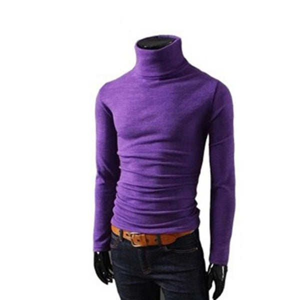 Men Casual knitted Sweater Spring Autumn Turtleneck knitwear winter male high collar Pull pullover sweaters