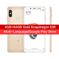"Global Version Xiaomi Redmi Note 5 4GB 64GB 5.99"" Full Screen MIUI 9.5 Smartphone Snapdragon 636 Octa Core Dual Cameras 4000mAh"