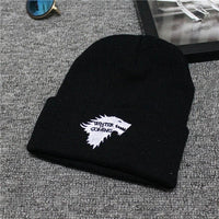 European and American autumn and winter  Embroidered Wolf Letter Knit Wool Cap Men and Women Ski Warm Hat