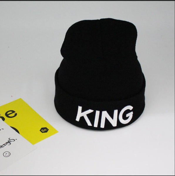 Cotton Winter Hats Cap Men's Women's Stocking Hat Beanies Black Knitted Hiphop Hat Female Couple Warm Winter Cap
