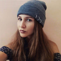 European and American personality simple fashion solid color rivet wool hat hip hop Lei Feng hat unisex