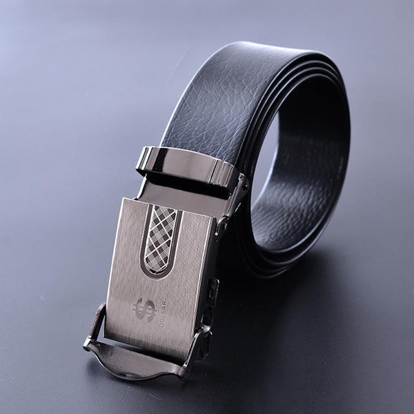 New Waist Business Black Belts Leather Casual PU High Quality Strap Mens