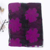 Elegant Women's Scarf Color Flowers Print Scarf Gentle Organza Scarves Wraps Muslim Hijab Sun Protection Head Wraps 5Colors