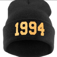 Winter Unisex Women Men Fashion Numbers 1994 Letter Print Knitted Cap Casual Hat Wool Cap Hip Hop Street Dance Ski Caps