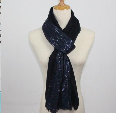 Fashion women's flower scarf long section soft women's sequins scarf luxury brand bohemian style shawl