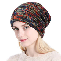 Xthree  Beanie Knitted Hat Women Autumn Winter Hats For Men Fashion Skullies Beanies Bonnet Gorros Striped Female Soft Caps Hats