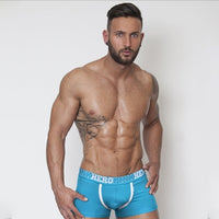 Brand New Sexy Mesh U Pouch Boxer Men Underwear Sexy Underpants Cueca Cotton Pants Trunks Boxer shorts Gay Male dropshipping