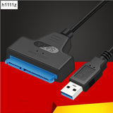 NEW USB 3.0 SATA 3 Cable Sata to USB Adapter Up to 6 Gbps Support 2.5 Inches External SSD HDD Hard Drive 22 Pin Sata III Cable