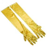 Wholesale Clothing Gloves Evening Performance Fun Longer Elbow Spandex Stretch Satin Sleeve Gloves 9 Colors to Choose