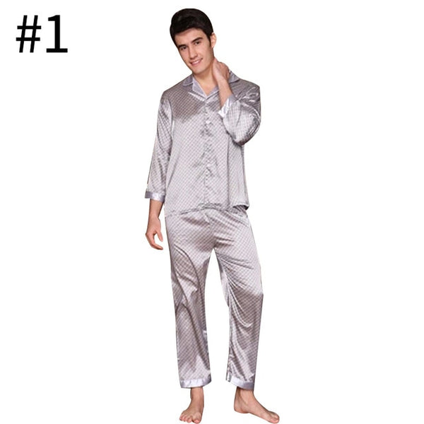 Autumn Spring Men Boys Pajama Sets Men Casual Home Sleepwear Male Home Nightgowns Male Long Sleeves Home Clothing SizeL-XXXL