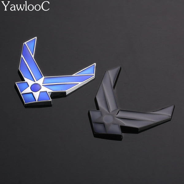 Car 3D USAF Chrome Metal Emblem Arm Badge Auto Fashion Decor Logo Refitting Decal car stickers Car Styling