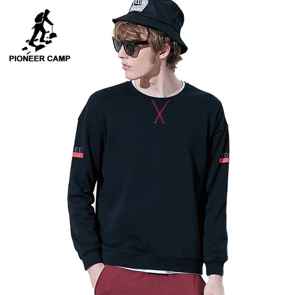 Pioneer camp new autumn mens sweatshirts brand clothing fashion design slim fit hoodies male quality printed tracksuit AWY802230