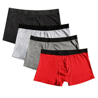 4Pcs/lot Brand Boxer Mens Underwear Cotton Man Big Short Colorful Breathable Solid Flexible Shorts Boxer dropshipping