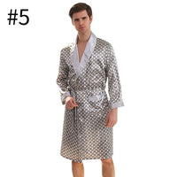 Autumn Men Boys Home Robes Male Printed Home Bathrobes Men Long Sleeves Soft Sleep Robes Home Male Casual Nightgowns Clothing