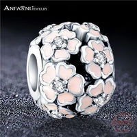 ANFASNI Fashion Beads Charms With Authentic 925 Sterling Silver Fit Pandora Charm Bracelet Beads Silver Fine Jewelry PSMB