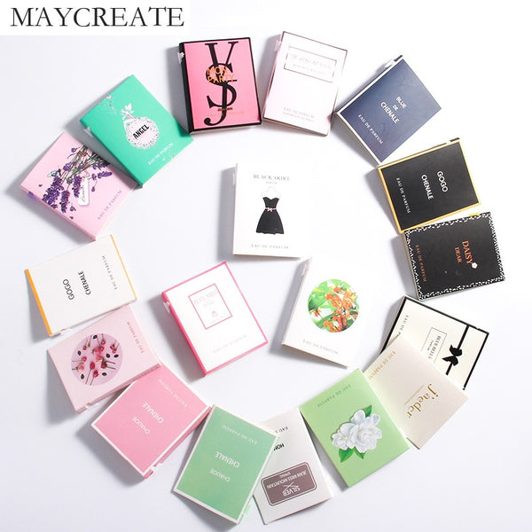 MayCreate 2ml perfum sample women Flowers Fragrances men mujer Liquid Antiperspirant mini Sweat Deodorant summer with Pheromones
