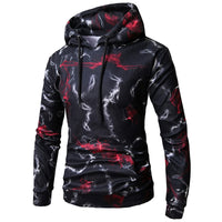 Autumn Men's Hoodies Long Sleeve Men Floral Hooded Pullover Cotton HipHop Hoody Sweatshirts Hombre Tracksuit Coat Women Male