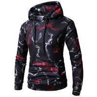 2018 Autumn Fashion Men's Hoodies Long Sleeve Digital Print Pockets Sweatshirt Hooded Cotton Casual Hip-hop Streetwear Pullover