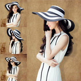 Beach Women Straw Floppy Sun Contrast Sun Hat Color Cap Fashion