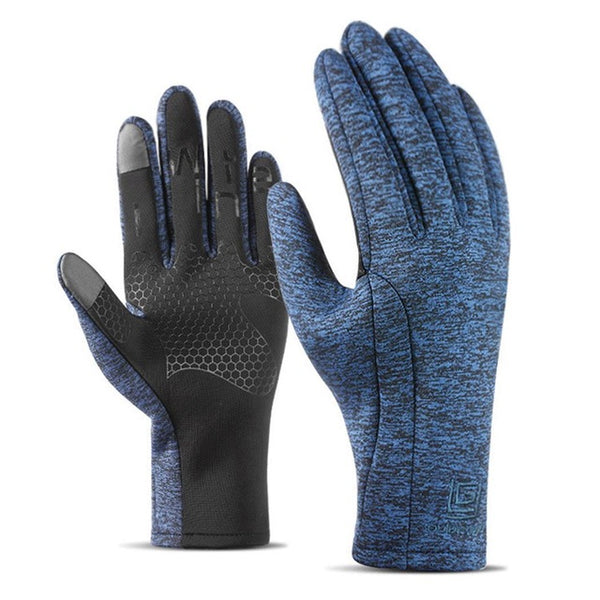 Thick Waterproof Outdoor Touch Color Gloves Warm Sport Contrast Unisex Screen