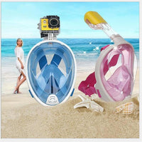 Underwater Anti Fog Diving Mask Snorkel Swimming Training Scuba Mergulho 2 In 1 Full Face Dive Snorkeling Mask Gopro Camera