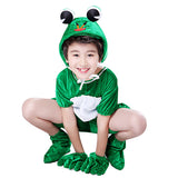 Songyuexia Children adpole Small Jump Frog Small Frog Cartoon Animal Dance Costumes Stage Jazz Modern Cheerleading clothes